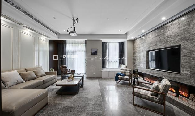 轻奢风格装修客厅效果图