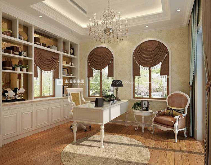 别墅软装设计案例书房