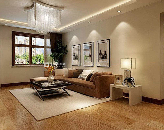 客厅木地板装潢