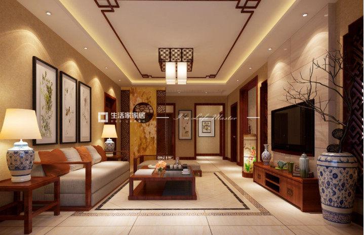 中式風格裝修客廳