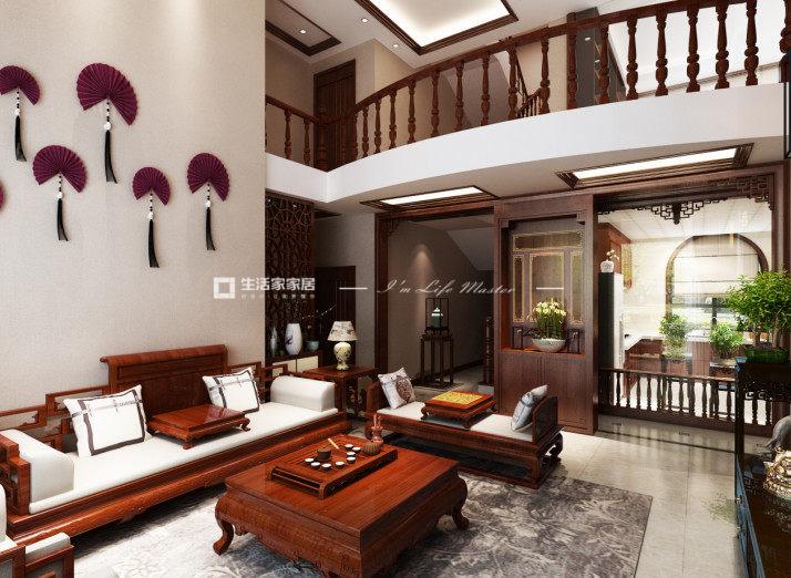 中式客厅广东11选5走势图效果图