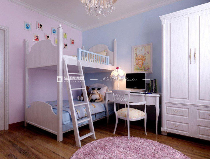 雙層兒童床裝修效果圖