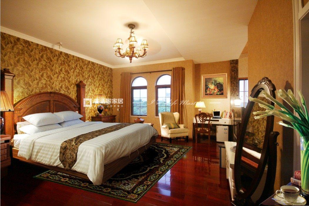 美式乡村卧室装修效果图