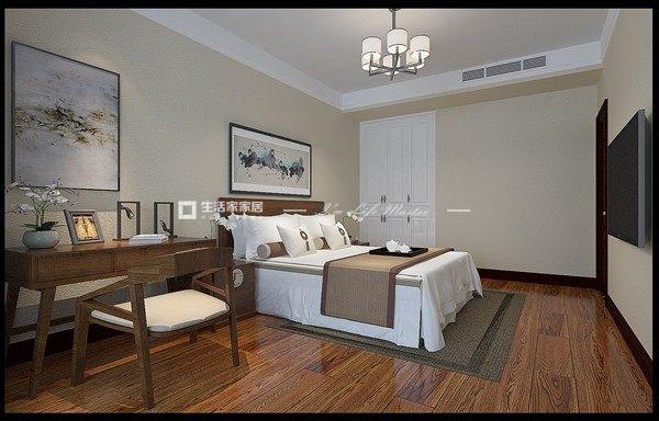 中式卧室装修效果图