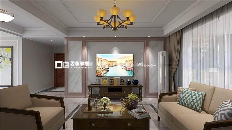 简美客厅装修效果图