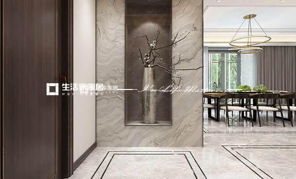 新中式玄关装修效果图