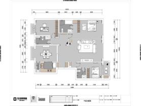 北京装修公司北京富力又一城124㎡现代简约三室两厅