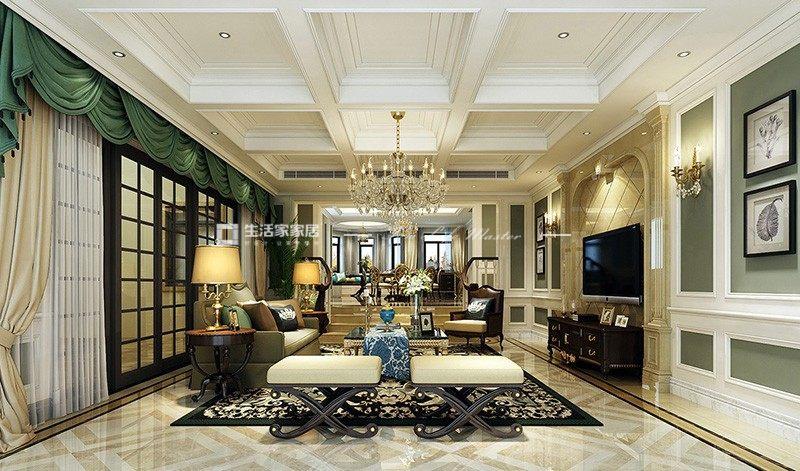 美式客厅装修效果图