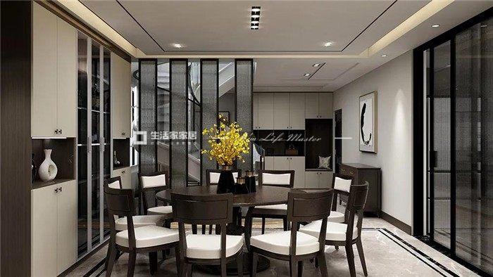新中式餐厅装修效果图