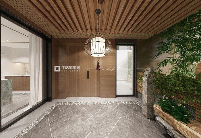 中式入戶花園裝修效果圖