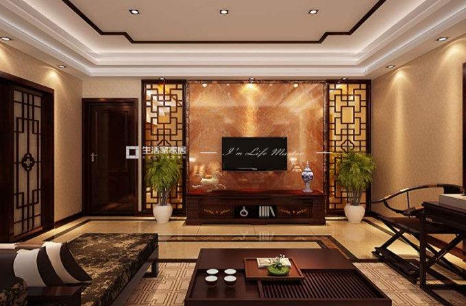 中国风装修效果图客厅篇