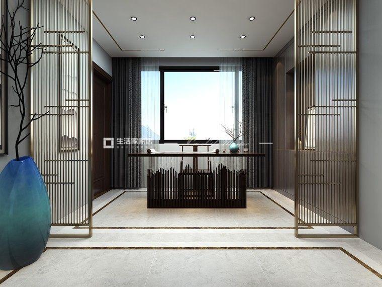 新中式书房装修效果图