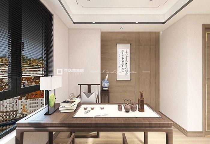 新中式書房裝修效果圖