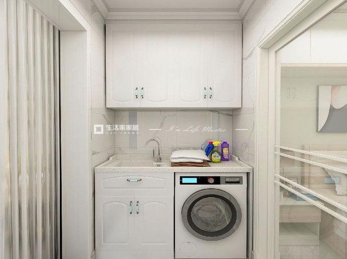 完美契合洗衣機廚房裝修效果圖