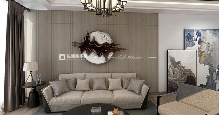 新中式客厅广东11选5走势图效果图