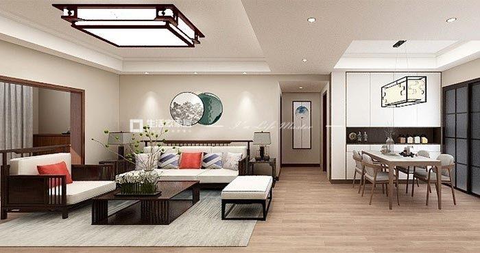 新中式客廳裝修效果圖