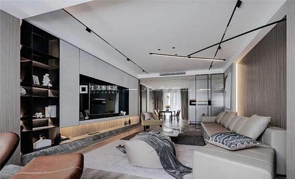 保利创智锦城+138m²+现代轻奢风格